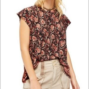 FREE PEOPLE High Tide Dual Print High/Low Top NWT